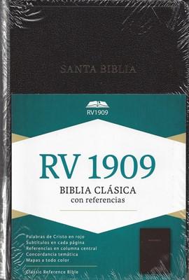 RVR 1909 Biblia de Referencia (Imitación Piel Negra) [Biblia]