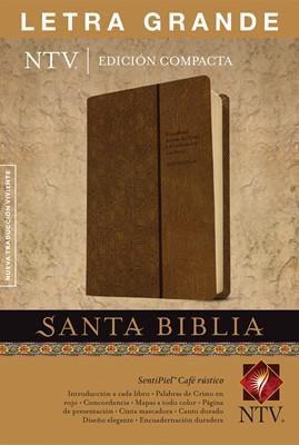 Biblia NTV Compacta Letra Grande (Piel especial - dos tonos café) [Biblia]