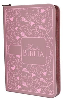 Biblia Reina Valera Económica (imitación Piel Rosa con Cierre) [Biblia]