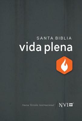 Biblia NVI De Estudio Vida Plena (Tapa Dura Gris) [Biblia de Estudio]