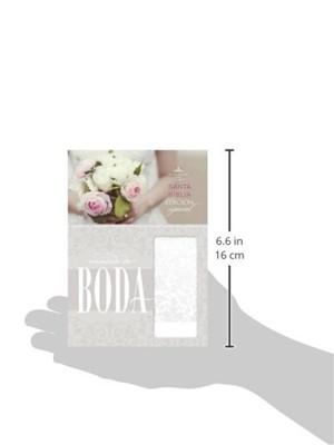 Biblia RVR Recuerdo Boda Blanco Flores P (Imitación Piel)