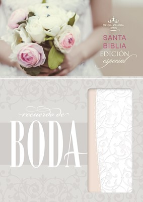 Biblia Compacta Recuerdo Boda Imitación Piel Filigrana Blanca Palo Rosa (Imitación Piel)