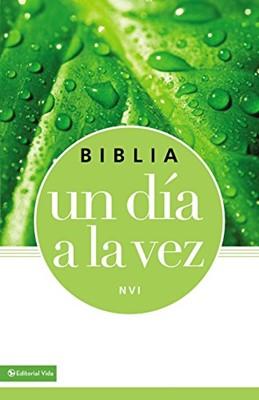 Biblia NVI Un Dia A La Vez Azul-Verde