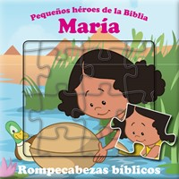 María Libro De Rompecabezas Bíblico  bilingüe