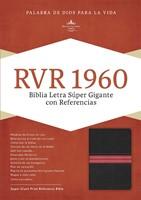 Biblia RVR60LSG Piel Negro Rojo