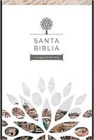 Santa Biblia RVR 1960 - Letra grande, imitación piel negra con imágenes de Tierra Santa