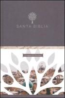 Santa Biblia RVR 1960 - Letra grande, tapa dura negra con imágenes de Tierra Santa