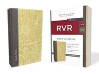 SANTA BIBLIA REINA VALERA REVISADA (RVR) ULTRAFINA, TELA OCRE/GRIS