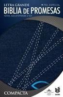 Biblia RVR 1960 de promesas compacta jeans con cierre