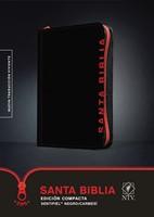 Biblia NTV Compacta Sentipiel Negro Rojo