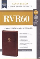 Biblia RVR60 SG Leathersoft cierre cafe
