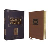 Biblia NBLA Gracia y Verdad Leathersoft Café