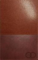 Biblia Devocional - Los Lenguajes del Amor (Piel Duo Tono Marrón Café) [Biblia]