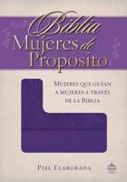 Biblia Mujeres De Propósito - Piel Morado