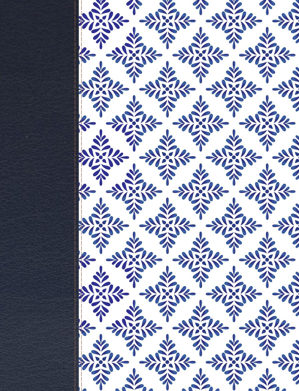 Biblia De Apuntes-NVI-Blanco Y Azul Simil Piel
