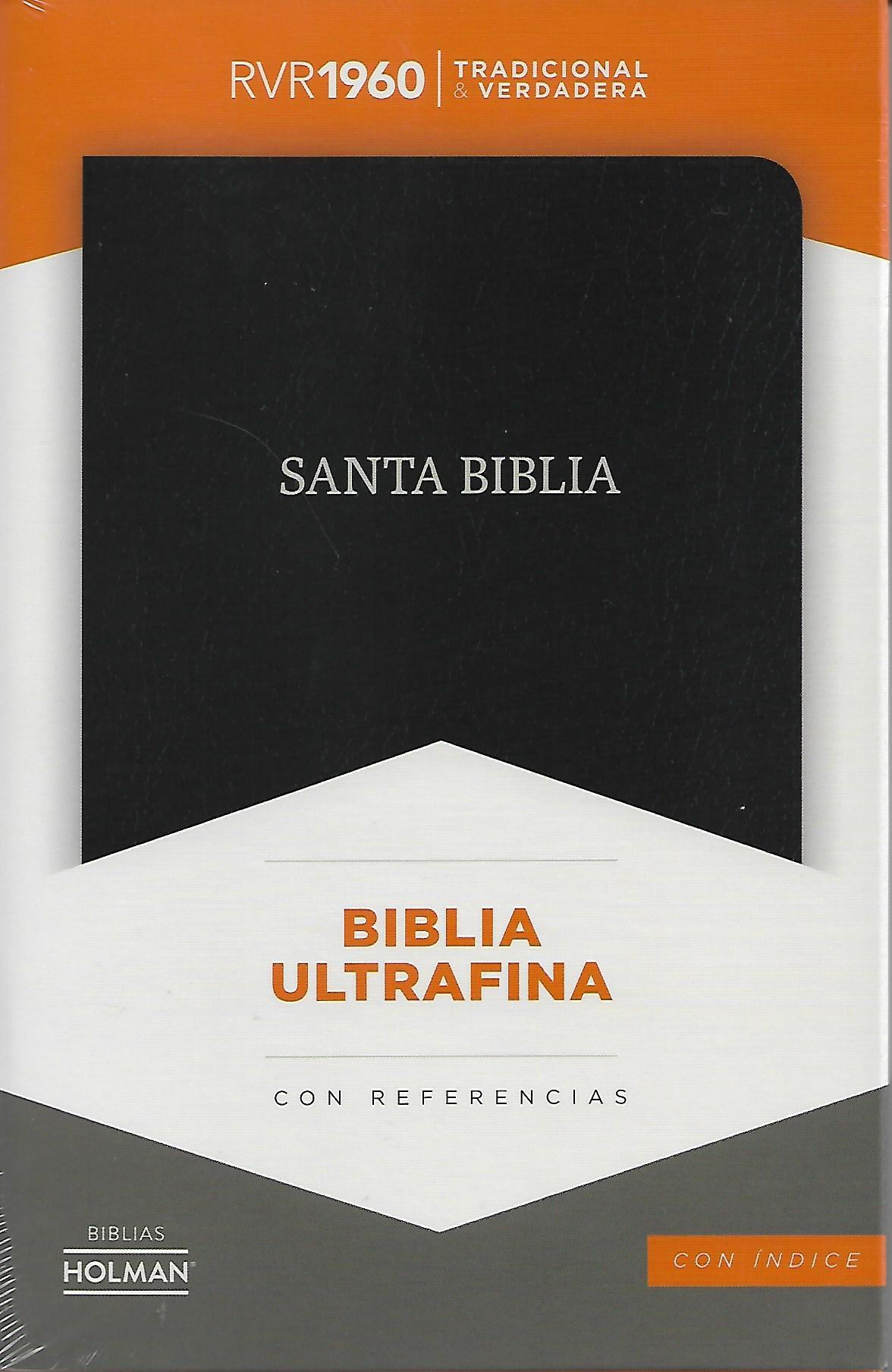 Biblia RVR1960 ultrafina con referencias con índice