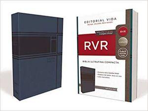 Biblia RVR Ultrafina Compacta Negro Azul
