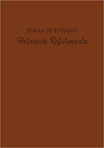 Biblia De Estudio Herencia Reformada Imitación Piel Cafe