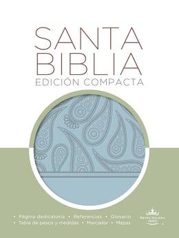 Biblia RVR 1960 compacta aguamarina
