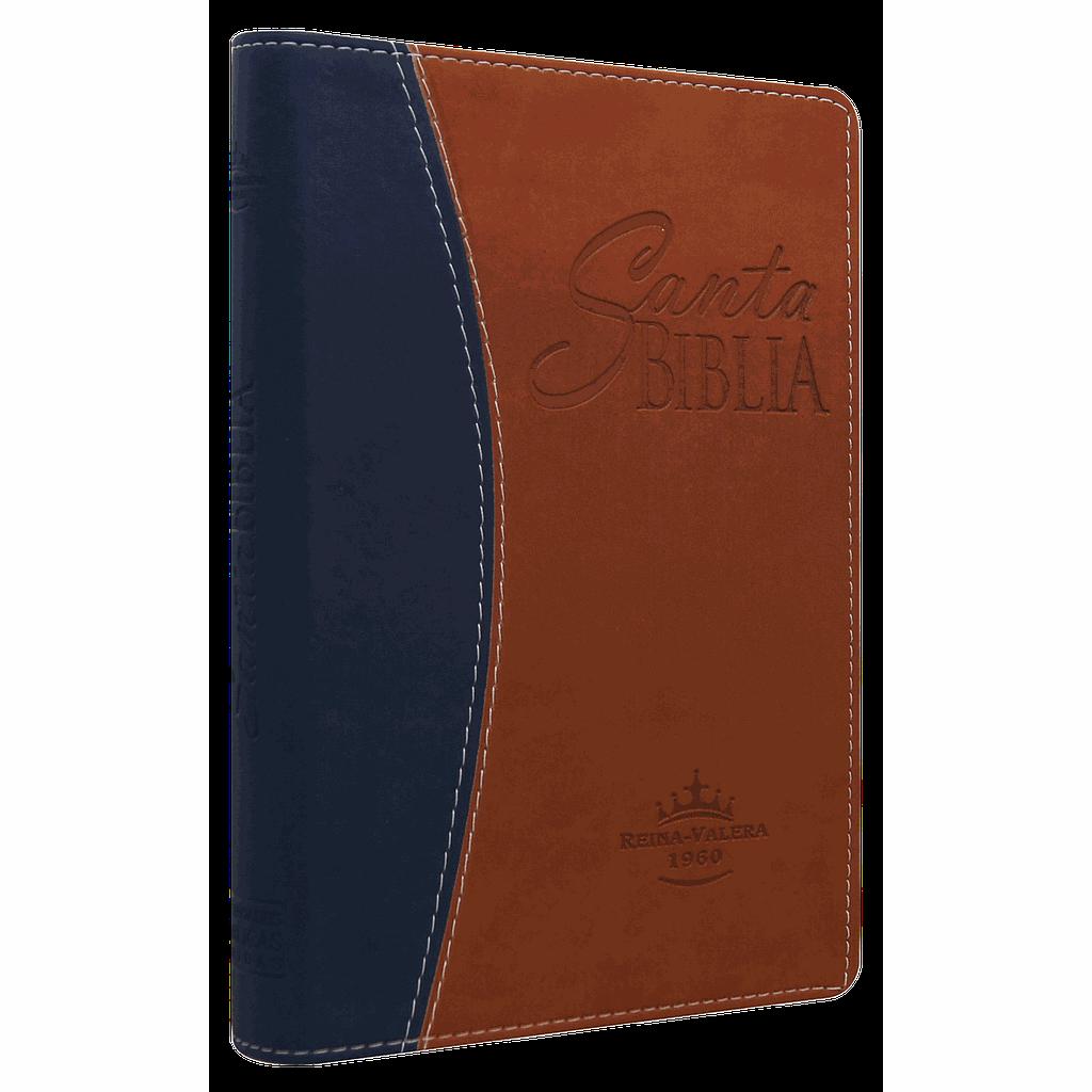 Biblia RVR065cLGPJR Duo Cafe-Azul