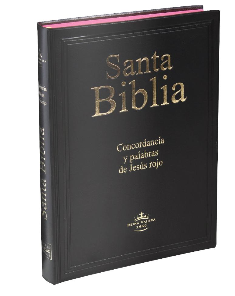 Biblia Reina Valera con Concordancia y Canto Rojo